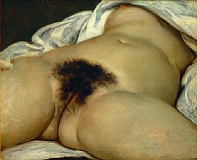 Gustave Courbet, L'origine du monde - GRANDS PEINTRES / Courbet