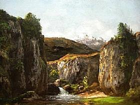 Gustave Courbet, Paysage avec source - GRANDS PEINTRES / Courbet