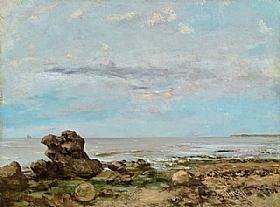 Gustave Courbet, Bord de plage à Trouville - GRANDS PEINTRES / Courbet