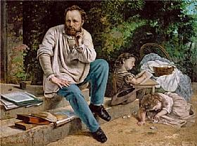 Gustave Courbet, Proudhon et ses enfants - GRANDS PEINTRES / Courbet