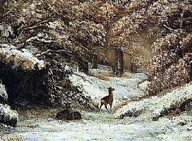 Gustave Courbet, Remise des chevreuils - GRANDS PEINTRES / Courbet