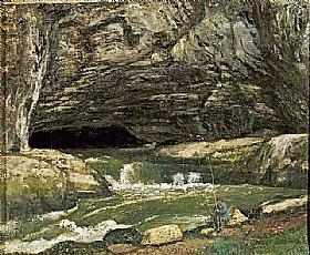 Gustave Courbet, La Source de la Loue ou Grotte Sarrazine - GRANDS PEINTRES / Courbet