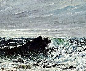 Gustave Courbet, Marine - la vague - GRANDS PEINTRES / Courbet