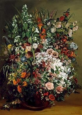 Gustave Courbet, Fleurs dans un vase - GRANDS PEINTRES / Courbet