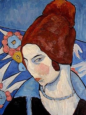 Jeanne Hébuterne, Autoportrait 1916-GRANDS PEINTRES-Hébuterne