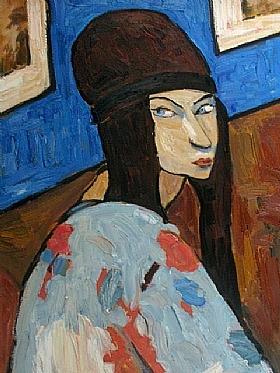 Jeanne Hébuterne, Autoportrait 1917 - GRANDS PEINTRES / Hébuterne