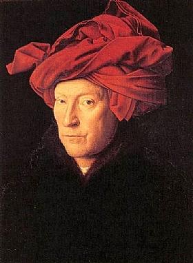 Jan Van Eyck, Autoportrait - GRANDS PEINTRES / Van Eyck