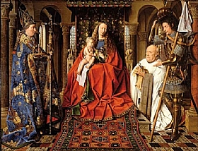Jan Van Eyck, Vierge au chanoise Van der Paele - GRANDS PEINTRES / Van Eyck