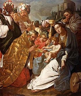 Janssens van Nuyssen, L'adoration des mages - GRANDS PEINTRES / Janssens