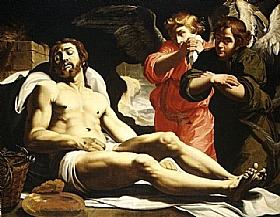 Janssens van Nuyssen, Christ mort et deux anges - GRANDS PEINTRES / Janssens