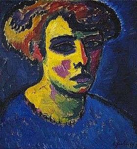 Alexej von Jawlensky, femme en bleu - GRANDS PEINTRES / Jawlensky