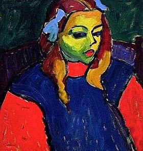 Alexej von Jawlensky, Jeune fille au visage en vert - GRANDS PEINTRES / Jawlensky