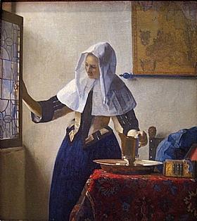 Johannes Vermeer, La Jeune Femme à l'aiguière - GRANDS PEINTRES / Vermeer