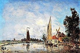 Johan Barthold Jongkind, Environs de Dordrecht - GRANDS PEINTRES / Jongkind