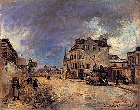 Johan Barthold Jongkind, Faubourg St Jacques à Paris - GRANDS PEINTRES / Jongkind