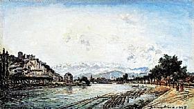 Johan Barthold Jongkind, L'Isère à Grenoble - GRANDS PEINTRES / Jongkind