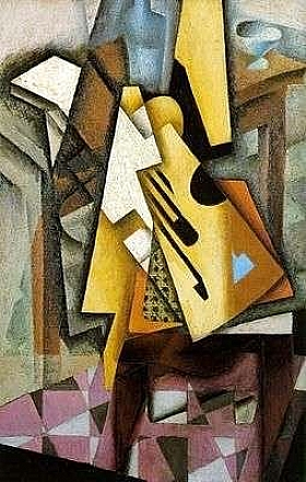 Juan Gris, Guitare sur une chaise - GRANDS PEINTRES / Gris