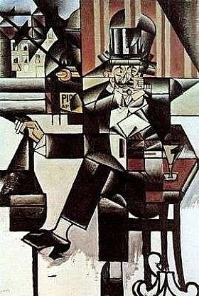 Juan Gris, L'homme au café - GRANDS PEINTRES / Gris