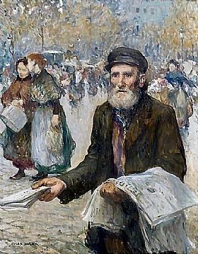 Jules Adler, Vendeur de journaux - GRANDS PEINTRES / Adler
