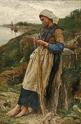 Jules Breton, Fille de pêcheur - GRANDS PEINTRES / Breton