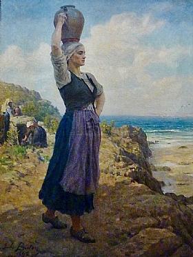 Jules Breton, Fontaine aux falaises des plomarc'h - GRANDS PEINTRES / Breton