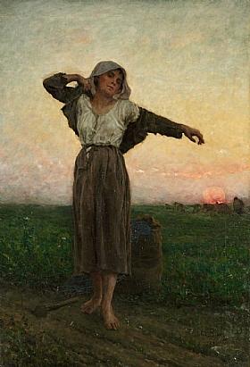 Jules Breton, Glaneuse fatiguée - GRANDS PEINTRES / Breton