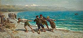 Jules Breton, Pêcheurs à Menton - GRANDS PEINTRES / Breton