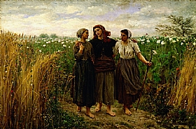 Jules Breton, Retour des champs - GRANDS PEINTRES / Breton