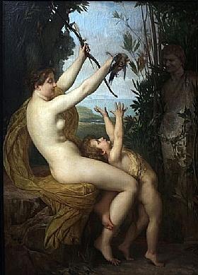 Jules Joseph Lefebvre, Nymphe et Bacchus - GRANDS PEINTRES / Lefebvre