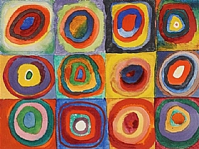 Vassily Kandinsky, Carrés Cercle - GRANDS PEINTRES / Kandinsky