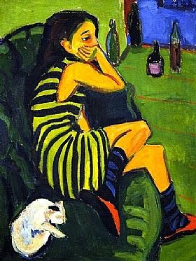 Ernst-Ludwig Kirchner, Artiste (Marzella)-GRANDS PEINTRES-Kirchner