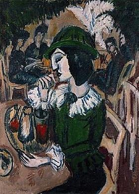 Ernst-Ludwig Kirchner, Dame verte au café - GRANDS PEINTRES / Kirchner