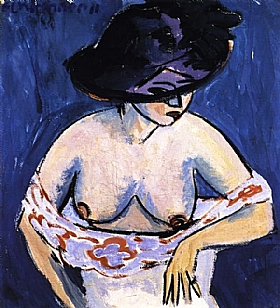 Ernst-Ludwig Kirchner, Demi nu féminin - GRANDS PEINTRES / Kirchner