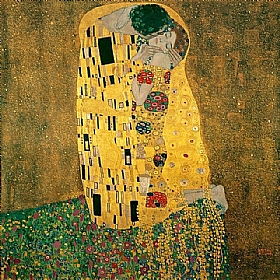 Gustav Klimt, Le baiser (format original) - GRANDS PEINTRES / Klimt