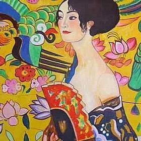 Gustav Klimt, La dame à l'éventail - GRANDS PEINTRES / Klimt