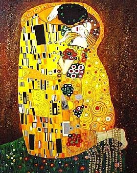 Gustav Klimt, Le baiser-GRANDS PEINTRES-Klimt