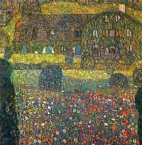 Gustav Klimt, Maison forestière - GRANDS PEINTRES / Klimt