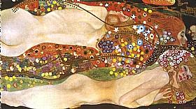 Gustav Klimt, Serpents de mer II - GRANDS PEINTRES / Klimt