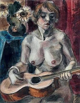 Henri Le Fauconnier, Modèle avec guitare - GRANDS PEINTRES / Le Fauconnier