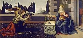 Léonard de Vinci, L'annonciation - GRANDS PEINTRES / De Vinci