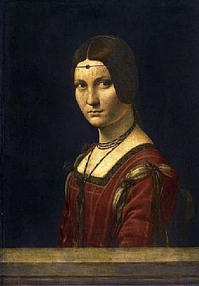 Léonard de Vinci, La belle ferroniere - GRANDS PEINTRES / De Vinci