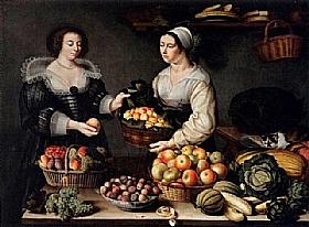 Louise Moillon, Marchande de fruits et légumes - GRANDS PEINTRES / Moillon