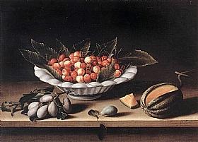 Louise Moillon, Une coupe de cerises et melon - GRANDS PEINTRES / Moillon