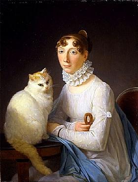 Marguerite Gérard, Femme avec un chat - GRANDS PEINTRES / Gérard