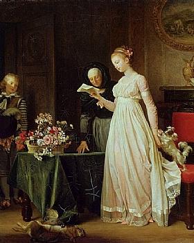 Marguerite Gérard, Le cadeau - GRANDS PEINTRES / Gérard