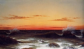 Coucher de soleil, Martin Johnson Heade - Grands Peintres / Heade
