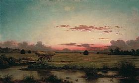 Les marais de Rhode Island, Martin Johnson Heade - Grands Peintres / Heade