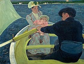 Mary Cassatt, Balade en barque - GRANDS PEINTRES / Cassatt