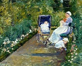 Mary Cassatt, La nurse et l'enfant dans le jardin - GRANDS PEINTRES / Cassatt