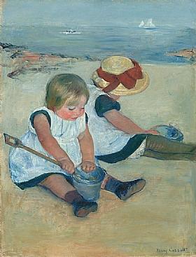 Mary Cassatt, Enfants jouant sur la plage - GRANDS PEINTRES / Cassatt
